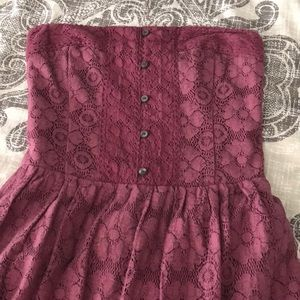 Abercrombie Strapless Lace Dress